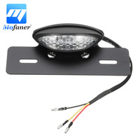 1PC Black Universal Motorcycle LED License Plate Rear Brake Tail Light Lamp 12V Motorbike Reversing Indicator