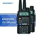 2 UNIDS BaoFeng UV-5R UV5R Walkie Talkie UHF VHF radio de Doble Banda CB de Radio Linterna Dual Display FM 128CH Transmisor-Receptor para La Caza Radio