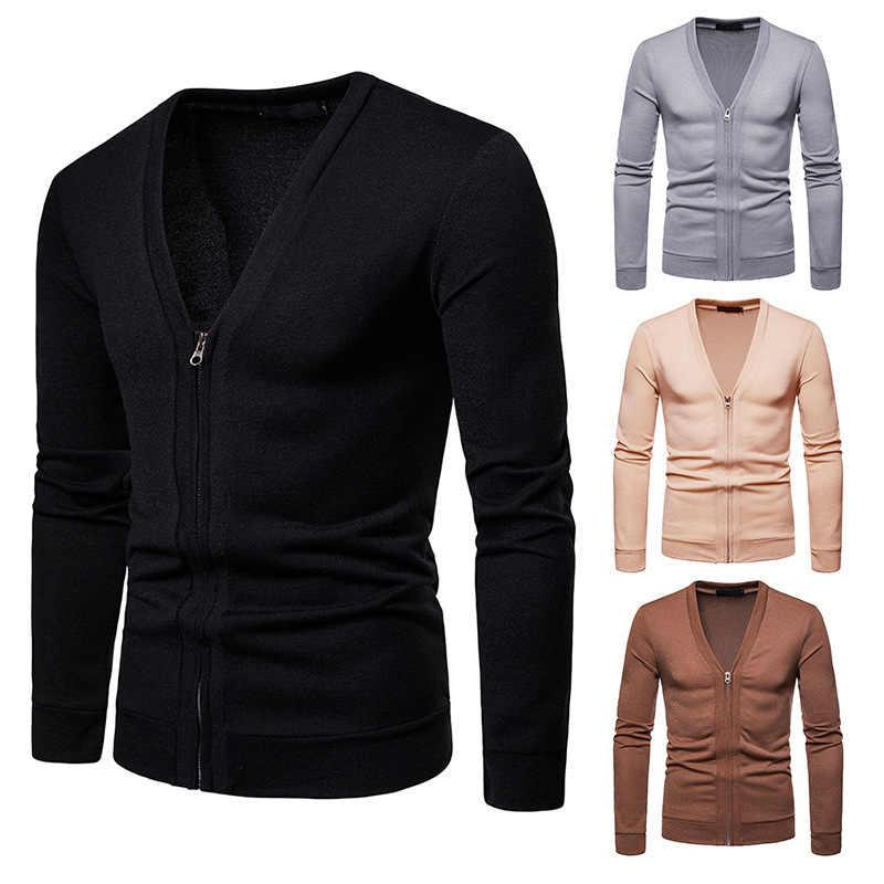 MRMT 2019 Marke Neue männer Jacken Pullover Große-größe Zipper für Männliche V-ausschnitt Strick Pullover Jacke Kleidung