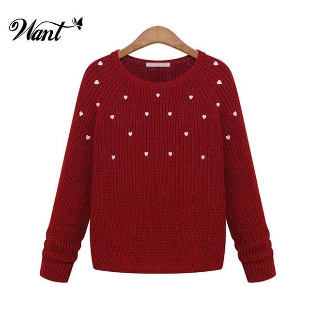Want punto brillante mujeres suéteres y jerseys 2015 Crochet moda de ...