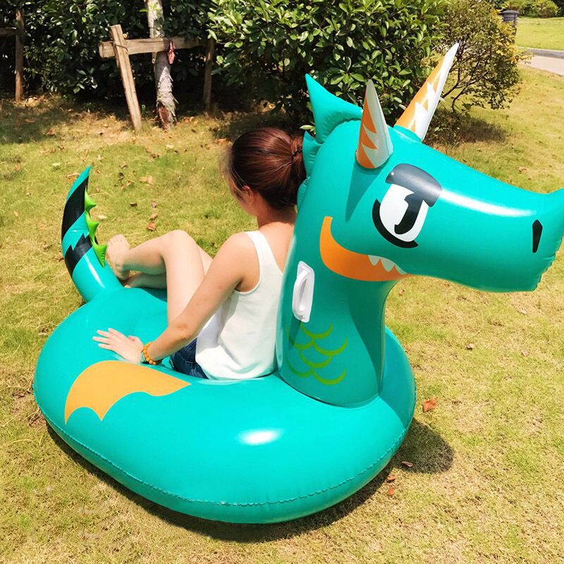 170cm Giant Green Dragon Inflatable Pool Float Ride On T Rex Swimming Ring Adult Child Water Party Toy Air Mattress Boia Piscina