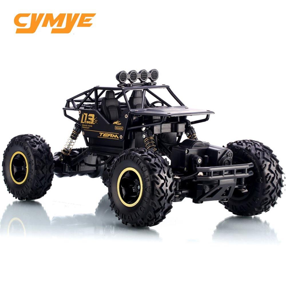 Cymye RC Auto 4WD 1/16 Skala 2,4g Rock Crawler Fernbedienung Geländewagen Klettern RC Buggy