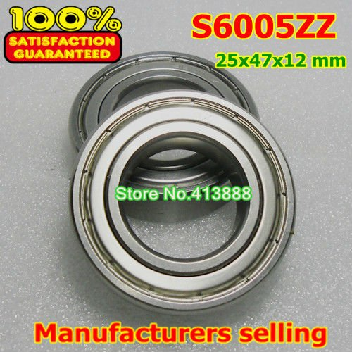 4pcs /lot high quality ABEC-1 Z2V1  stainless steel deep groove ball bearings S6005ZZ 25*47*12 mm gcr15 6326 open 130x280x58mm high precision deep groove ball bearings abec 1 p0