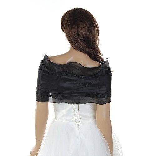 Bolero para vestido de fiesta negro