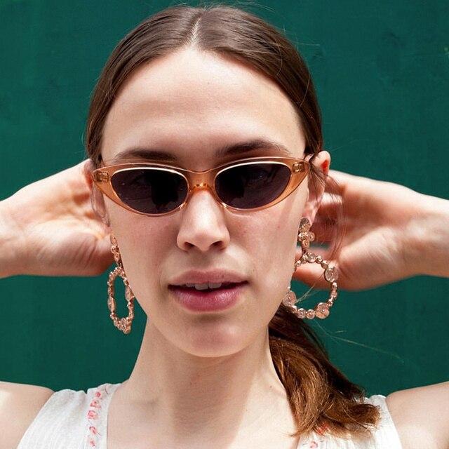 6da38e59f3 ROYAL GIRL Cat Eye Sunglasses Women Small Frame Modern Retro Designer Sun Glasses  Female 2018 New Fashion Eyewear UV400 ss208