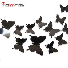 12pcs 3D Butterfly Decal Wall Stickers Home Decor Kids Room Decorations Hot Wonderful Art Design Wedding Decor