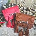 Women's new style Tassels handbag messenger bag female Bag vintage envelope bag shoulder high quality briefcase Brand original