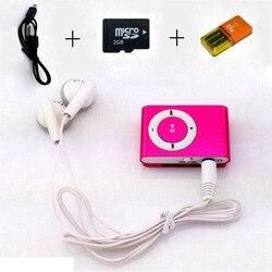 MP3 coloré Mini lecteur de musique Mp3 lecteur Mp3 Micro TF carte Slot USB MP3 Sport lecteur USB Port avec écouteur 2 GB TF carte