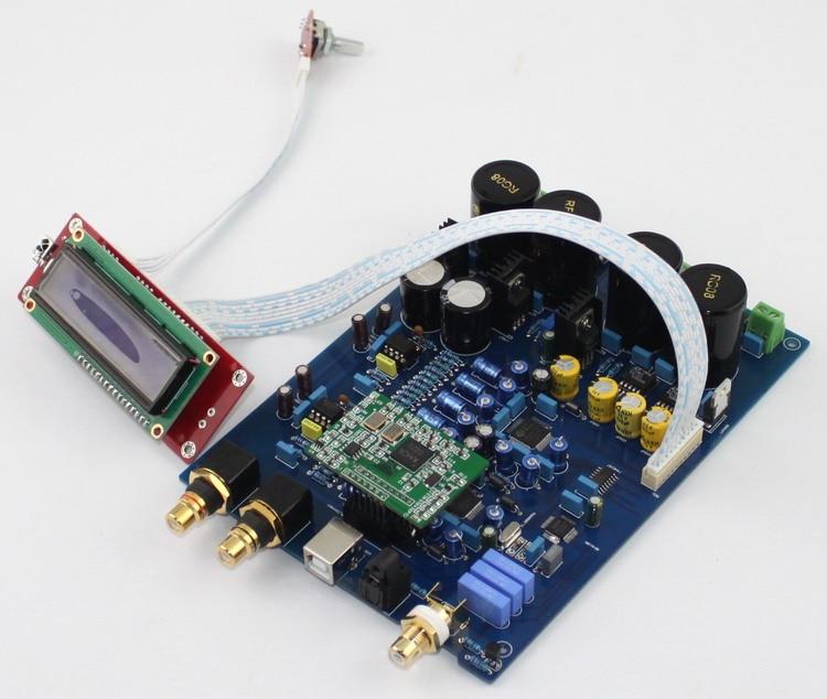 Новый AK4497 ЦАП Плата декодера/Сделай сам усилитель доска без учета XMOS U8 USB карты