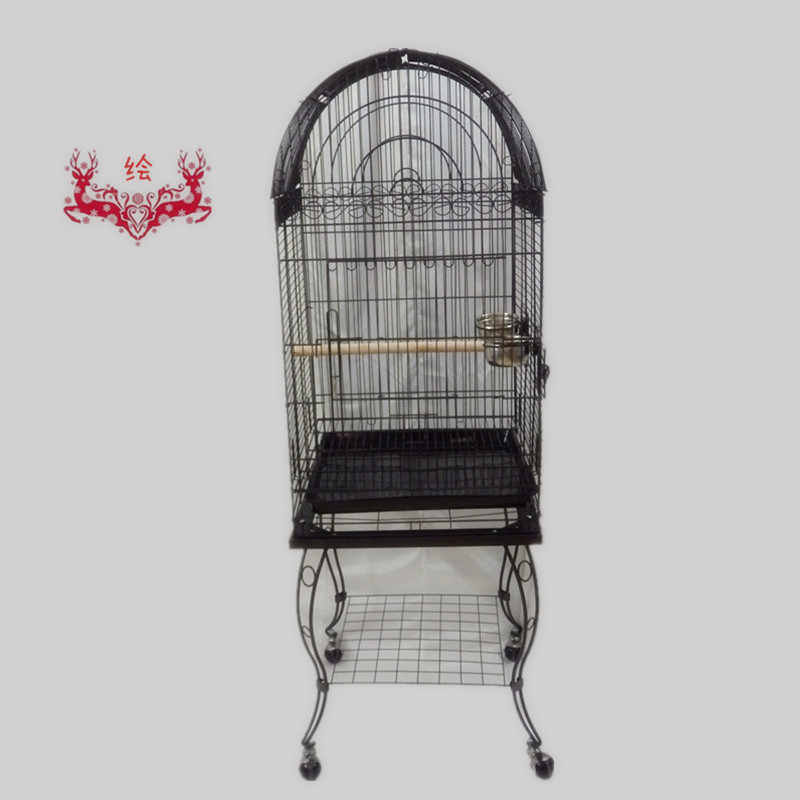 Free Shipping To USA Large Bird Cage Open Top Parrot Cage Finch Macaw Cockatoo Black Vein B10X