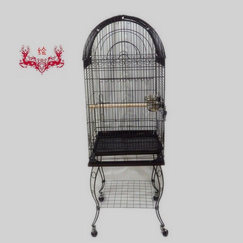 Livraison gratuite aux états-unis grande Cage à oiseaux ouverte Top perroquet Cage Finch Macaw Cockatoo veine noire B10X