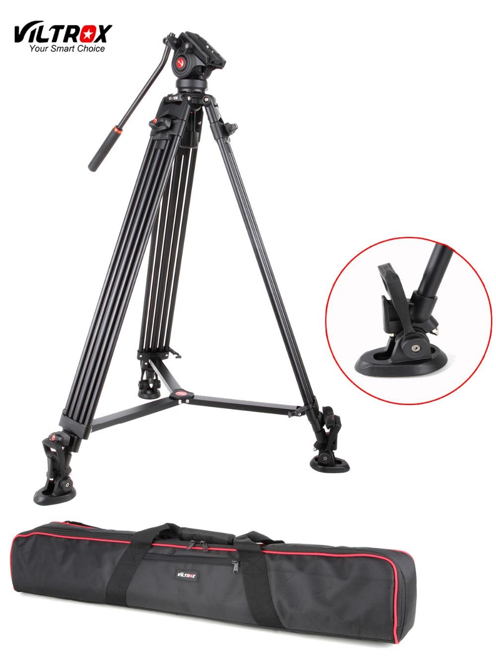 Prix pour 1.8 M Viltrox VX-18M Pro Heay Duty Aluminium Vidéo Trépied + Fluide Pan Tête + Sac De Transport pour Caméra DV DSLR Très Stable