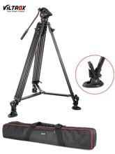 1.8 м viltrox vx-18m pro heay duty алюминиевый видео штатив + жидкость пан Голова + Сумка для DV Камеры DSLR Очень Стабильно