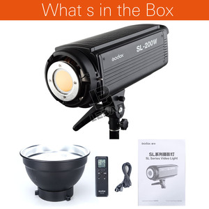 Image 3 - Lâmpada de led godox SL 200W 200ws 5600k, sem fio, para estúdio, fotografia contínua, lâmpada de vídeo com controle remoto