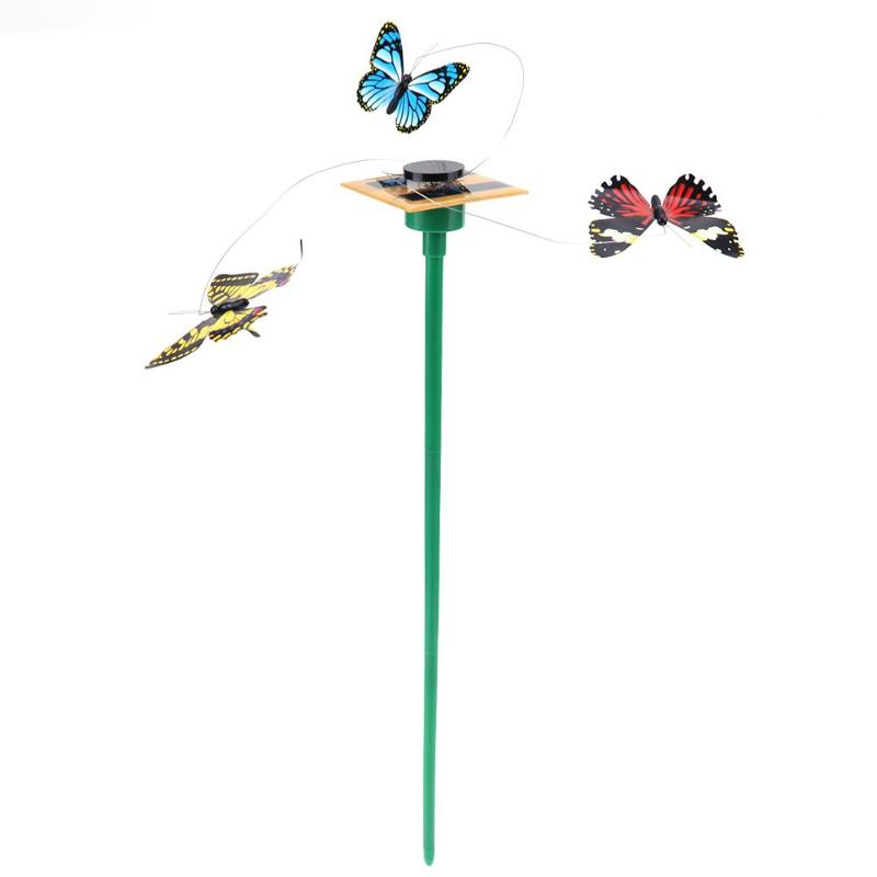 Vibration Solar Powered Dancing Fluttering Flying Butterfly Toy Art Home Garden Yard Decorations Fly Simulation Childen Toys
