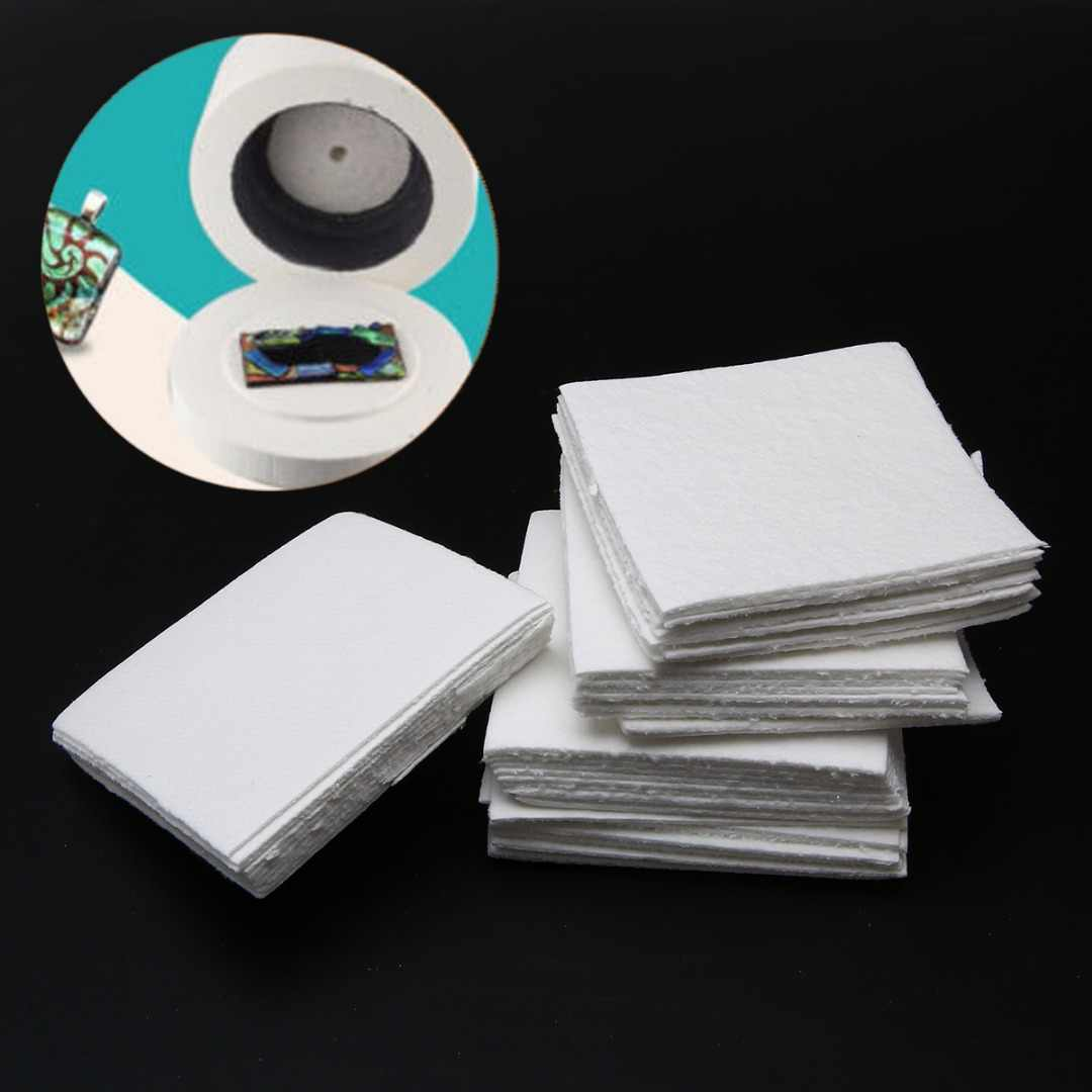 50 Sheets Ceramic Fiber Square Microwave Kiln Glass Fusing Paper 80x80x1mm For Household Tools