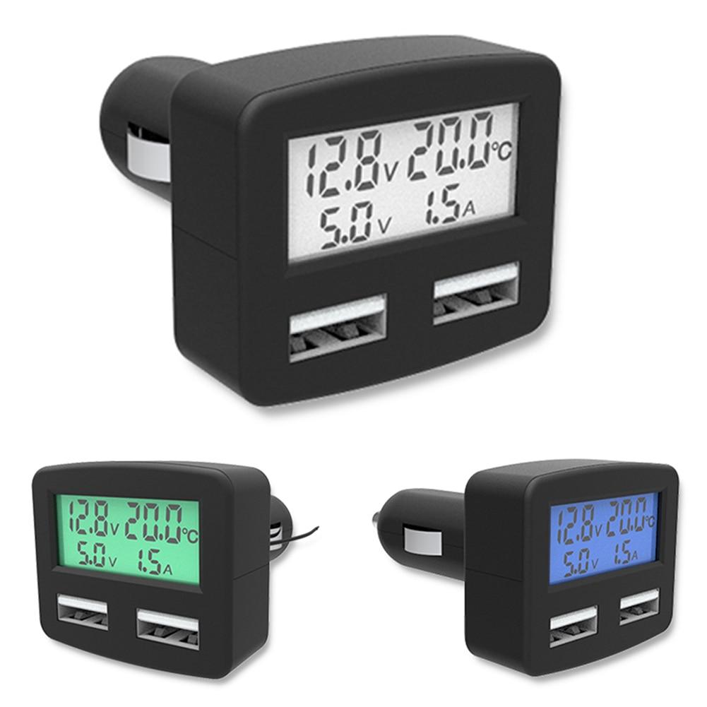 Универсальный 5 in1 3А Автомобильное зарядное устройство DC 5 В Dual <font><b>USB</b></font> Портов Автомобильное Зарядное Устройство Для Телефонов с Температура Напр&#8230;