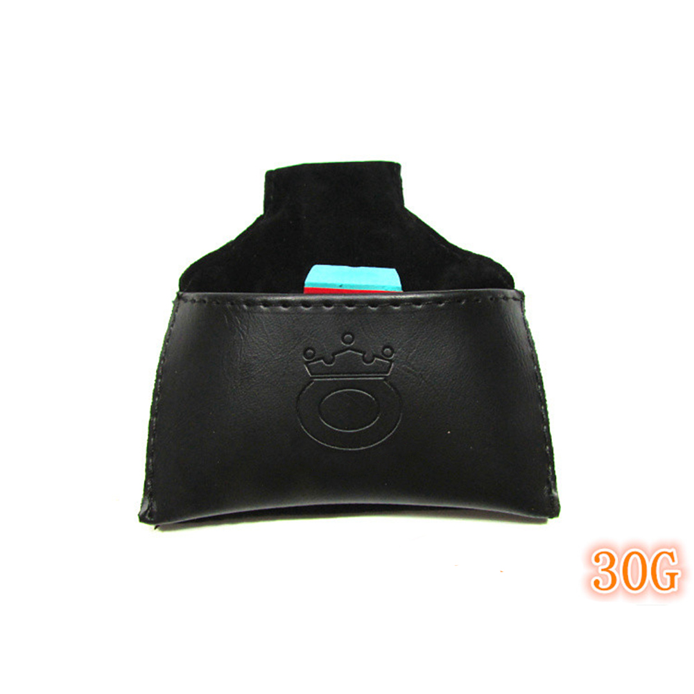 Pool Billiards Snooker PU Leather Chalk Bag Case Holder with Clip Coffee