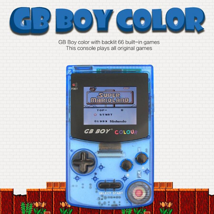 """2020 nuevo Mando de juegos Color niño GB 2,7 """"consolas de juegos clásicos portátiles con retroiluminación 66 juegos integrados"""