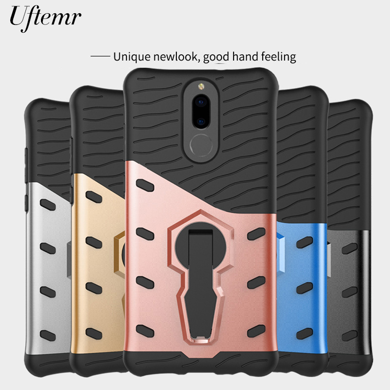 Uftemr for Huawei Mate 10 Lite Case Shockproof Armor Silicon PC Hard Plastic Back Cover for huawei honor 9i nova 2i Phone cases