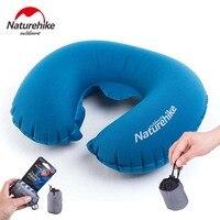 Naturehike Lightweight Inflating Pillow Portable U Shape Camping Travel Airplane Aeros Pillow Air Cushion