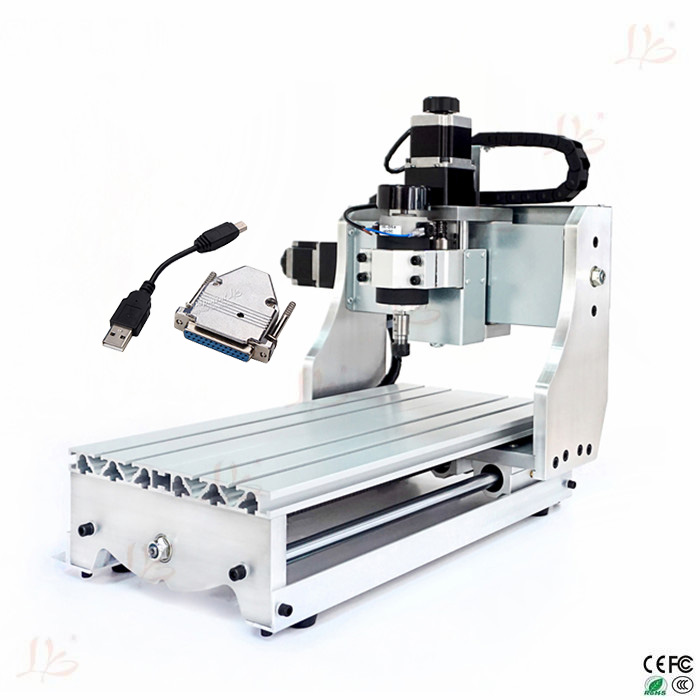 110V 220V 300W CNC engraving machine 3020 T-D300 4axis CNC wood router with USB-100 External USB adapter cnc 5axis a aixs rotary axis t chuck type for cnc router cnc milling machine best quality