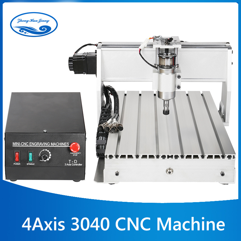 CNC 3040 4 axis mini CNC milling machine Engraver Engraving Milling Drilling Cutting Machine 300W Manufacturer