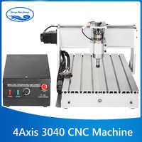 CNC 3040 4 軸ミニ CNC フライス機彫刻彫刻フライス掘削切断機 300 ワットメーカーサプライヤー