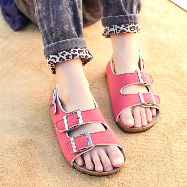 Summer Beach Parents and Children Shoes PU Leather Kids Shoes Baby Girl Boy  Sandals Sandalias Women Men Girls Boys Sandals 53d68219f1