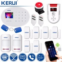 KERUI WIFI GSM W20 Touch Keyboard Motion Sensors Wireless Alarm Home Smart Socket RFID Card APP Control Security Alarm System