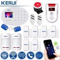 KERUI WIFI GSM W20 Touch Keyboard Motion Sensors Wireless Alarm Home Smart Socket RFID Card APP Control Security Alarm System