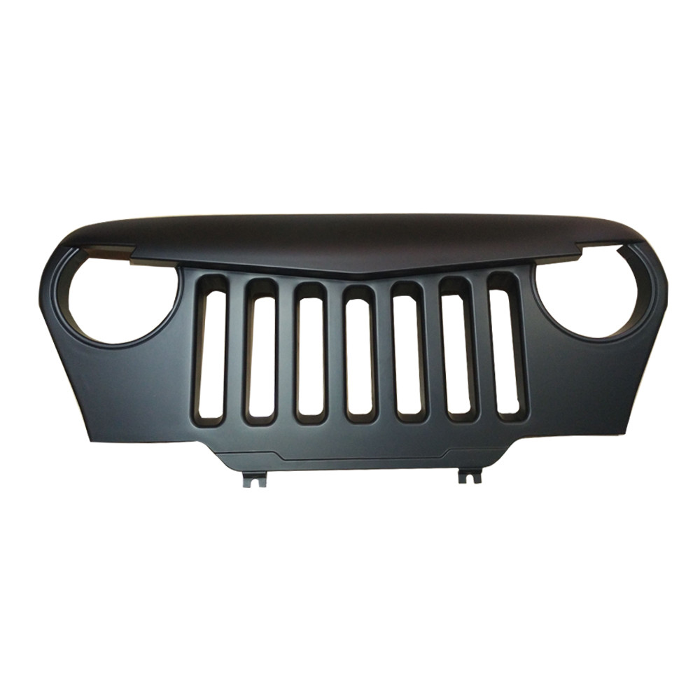 1 pc easy install Angry Bird Grille Front Matte Black Overlay Grill For 1997-2006 Jeep Wrangler TJ
