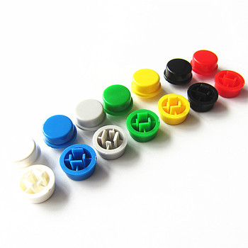 10 sztuk partia okrągły przełącznik nasadka na przycisk A24 może być używany z przełącznikiem 12*12*7 3 (7 kolorów) tanie i dobre opinie Plastic