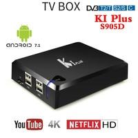 2018 New K1 PLUS DVB T2 DVB S2 DVB C Android 7.1 TV BOX 4 in 1 Combo Amlogic S905D Quad Core KI PLUS Smart Set top Box 4K 1080P