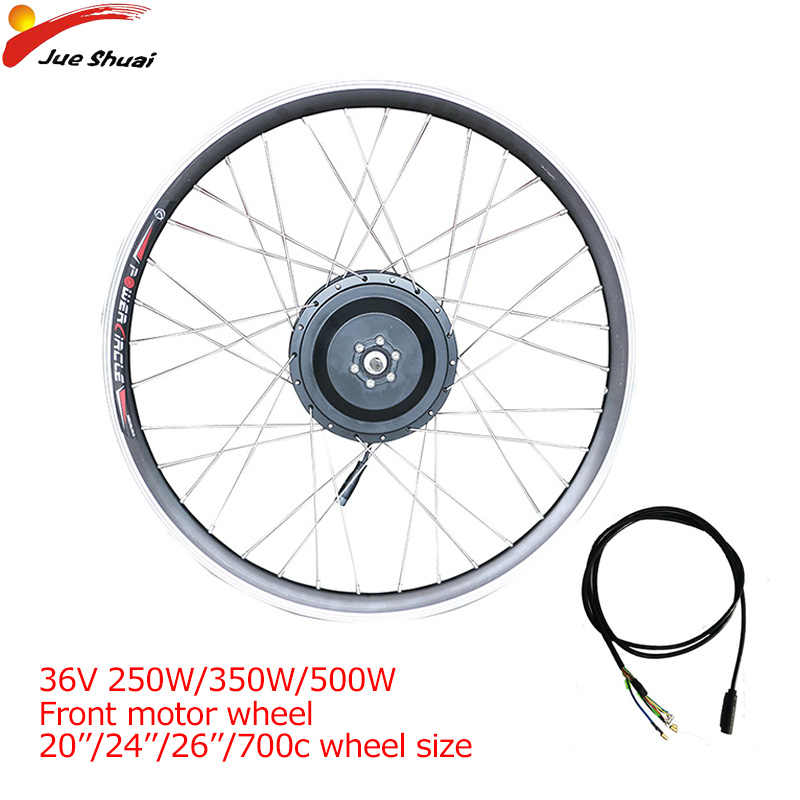 Electric Motor Wheel 36V 250W350W500W Brushless Gear Hub Motor Electric Bike Conversion Kit E-bike Motor Front motor Wheel ebike