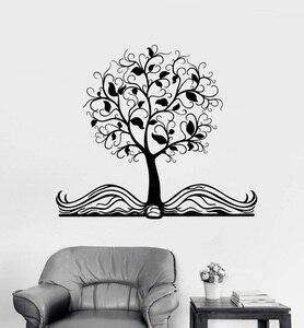 Image 1 - חוכמת עץ ויניל קיר מדבקת ילד Teen מחקר חדר שינה ספריית קישוט קיר מדבקת בית תפאורה אמנות מדבקות YD01