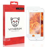RUBY Ultimate Resistance Tempered Glass for iPhone 8/7 (White frame)