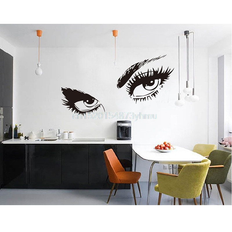 Audrey Hepburn Sexy Eyes Wallpapers Living Room Decorations Home Decals Mural Art Diy Vinyl Adesivo De Paredes #L057# New Hot