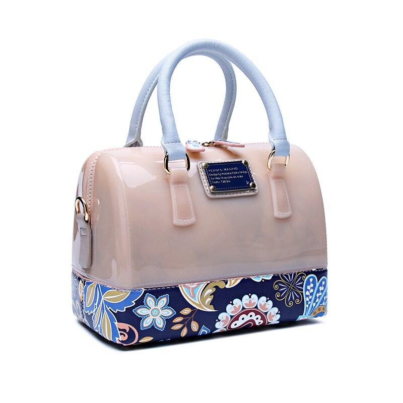 Gelée femmes sac à main mini étanche Transparent sac à main motif floral oreiller sac à bandoulière été dames sacs à main