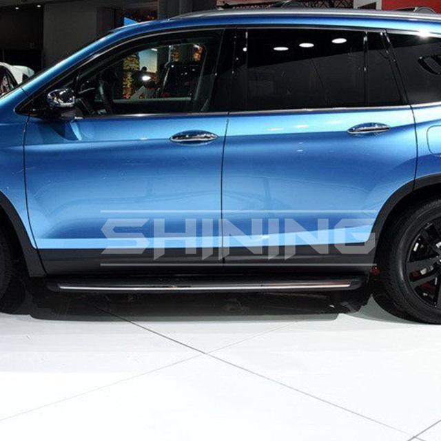 High Quality Apto Para Honda All New Pilot 2016 2017 Estribo Side Step Nerf Bar Alumínio