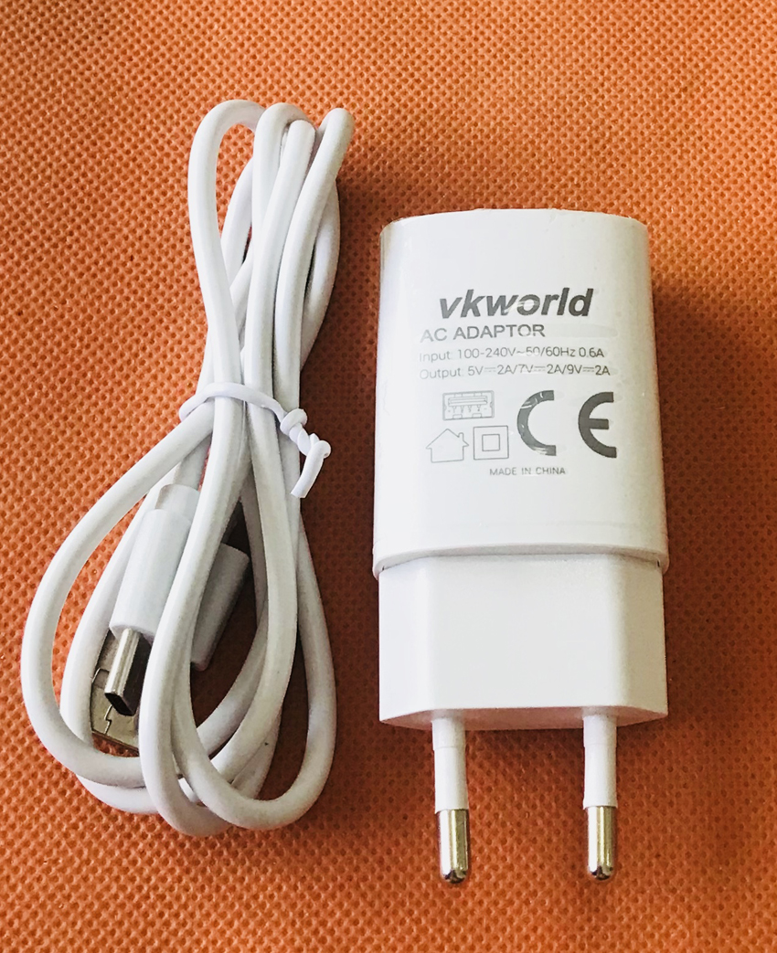 Original Travel Charger EU Plug Adapter+ USB Cable for VKworld S8 MTK6750T Octa Core Free Shipping