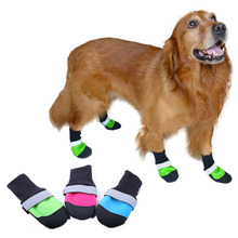 Reflective Dog Shoes Socks Winter Dog Boots Footwear Rain Wear Non-Slip Anti Skid Pet Shoes for Medium Large Dogs Pitbull reflective dog shoes socks winter dog boots footwear rain wear non slip anti skid pet shoes for medium large dogs pitbull