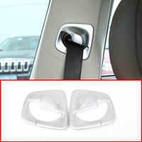 2Pcs For BMW New 5 Series G30 2017 2018 Car ABS Matte Silver Front Safety Belt Cover Trim Accessories and Parts