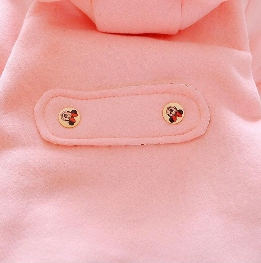 High Quality 2019 Winter Autumn Minnie Bow Baby Girl Outerwear Clothes Cute Girls Jacket Children Thick Woolen Coat