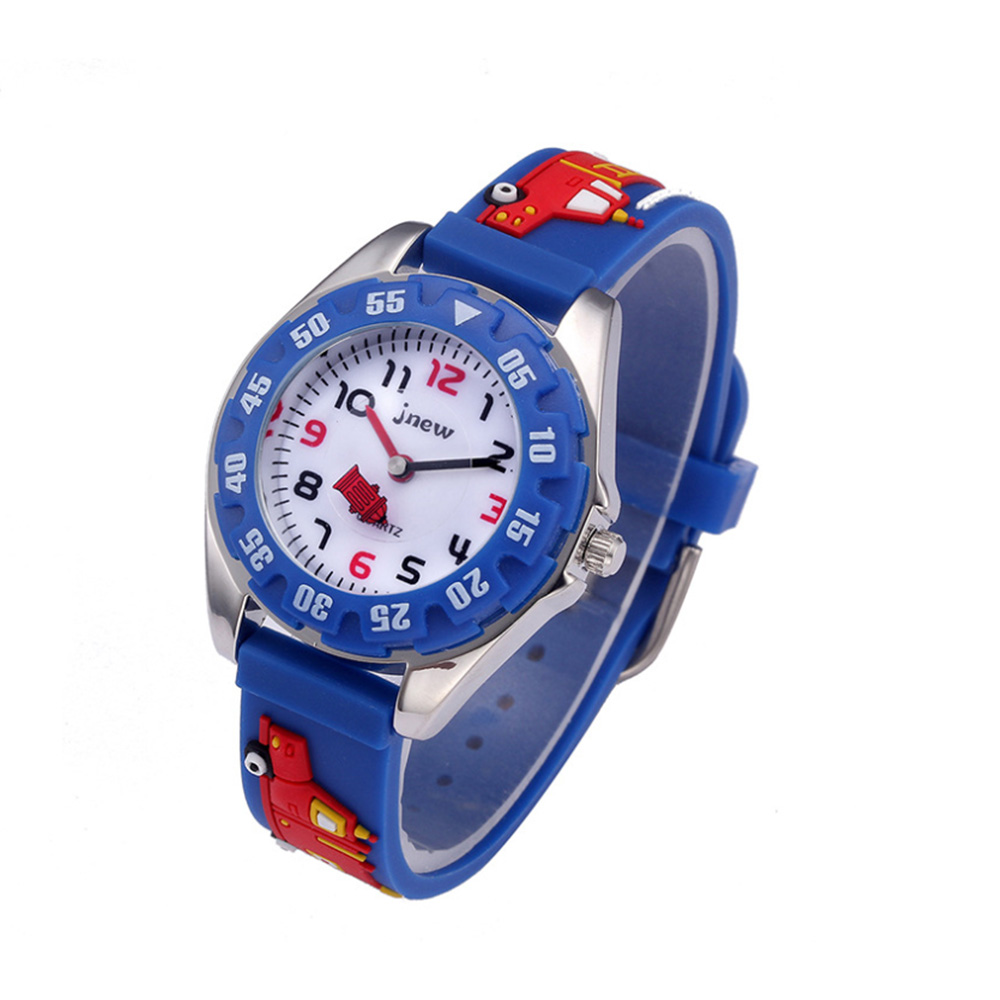 Kids Watches 3D Cartoon Fire Truck Waterproof Sport Silicone Children Watches Gift For Boys Girls Children's Sports Watch
