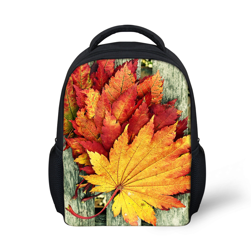 Preppy Style Children School Bag Maple Leaf Print Small SchoolBags for Kids Baby Girls Kindergarten Book Bags Toddler Mochila