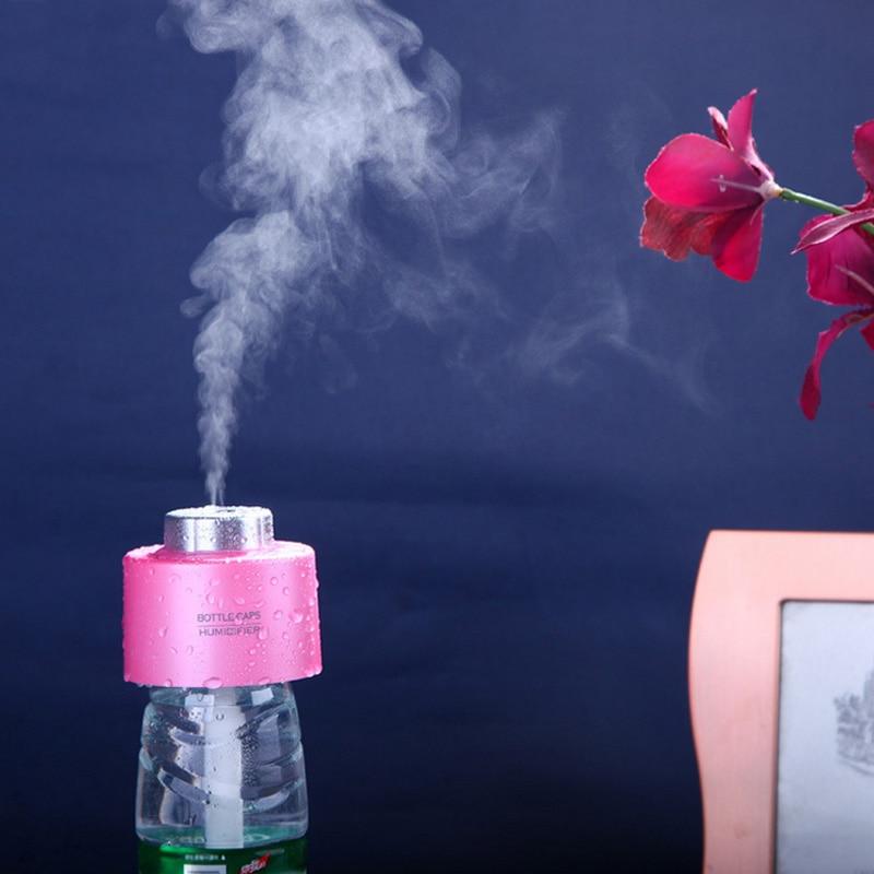 1 adet Mini Şişe Kapakları Nemlendirici USB Su Şişe Kapakları Aroma Hava Yayıcı Mist Buhar Makinesi (Şişe Dahil değildir) hızlı Kargo