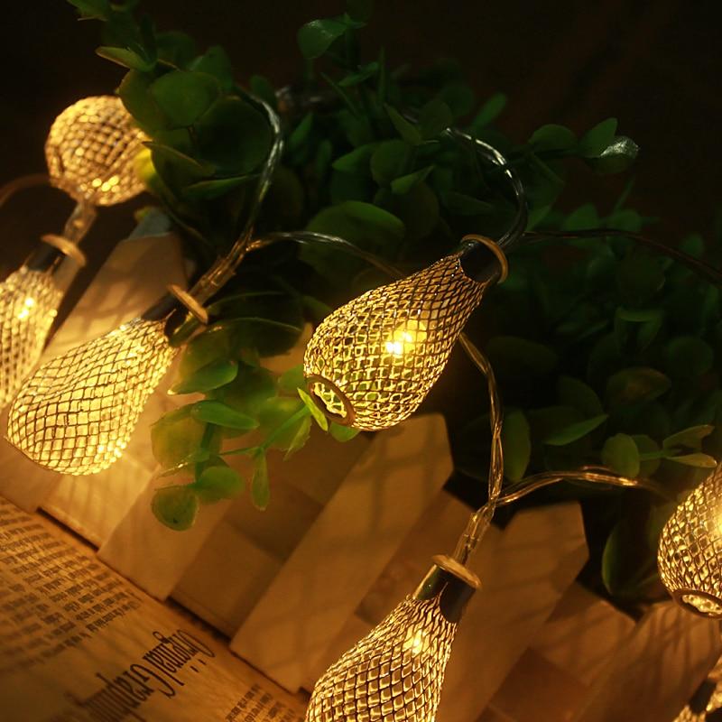 2M 20LED String Lights Bateri aa Lampu Krismas Pernikahan Fairy - Pencahayaan perayaan - Foto 2