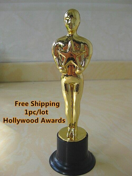 Hollywood Awards Pc Lot Free Shipping Oscar Replica Oscar Academy Statue Plastic Gold Figurine Trophy On Aliexpress Com Alibaba Group