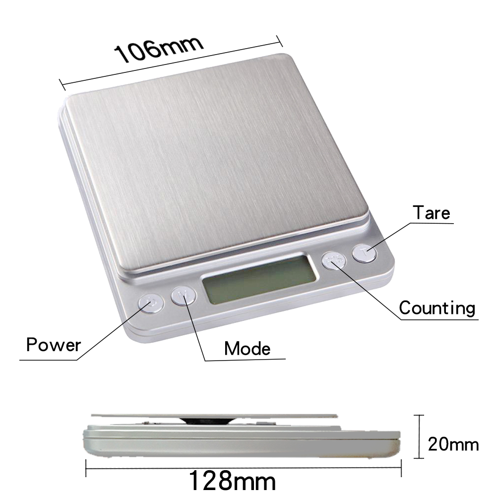 Przenośne wagi kuchenne Precyzyjna elektroniczna waga cyfrowa Mini - Przyrządy pomiarowe - Zdjęcie 6